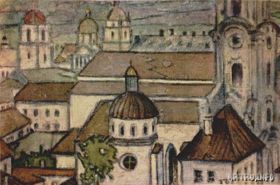Лукомский Георгий - Иллюстрация в журнале Лукоморье, 1916