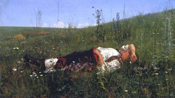 Кузнецов  Николай - Малороссиянка, отдыхающая на траве