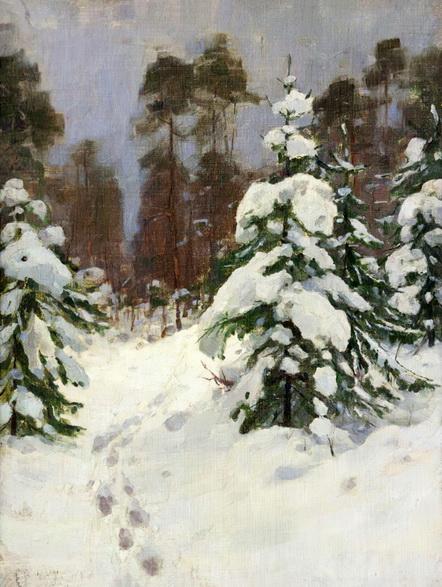 Голубин Сергей Иванович - Зимний  лес