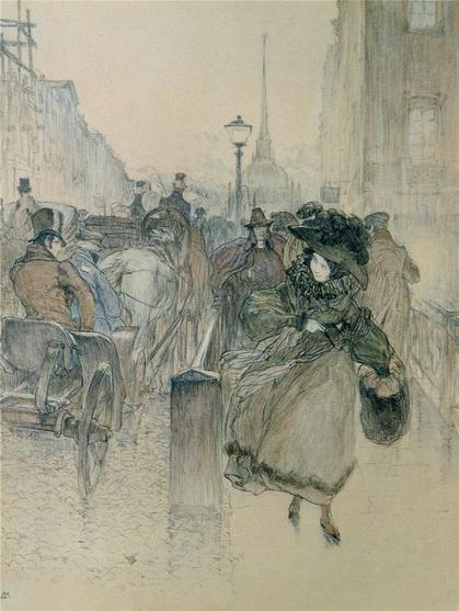 Kardovsky-На Невском проспекте.1904.