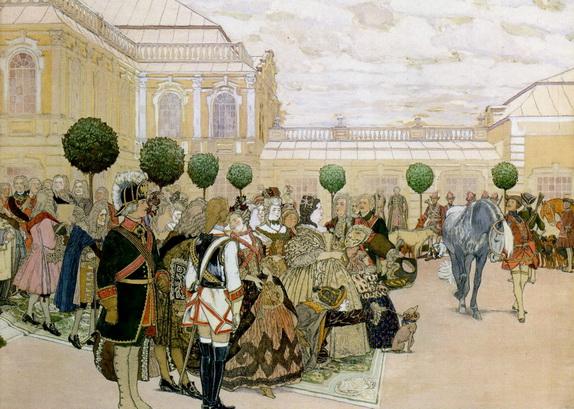 Kardovsky-Императрица Анна Иоанновна и ее двор