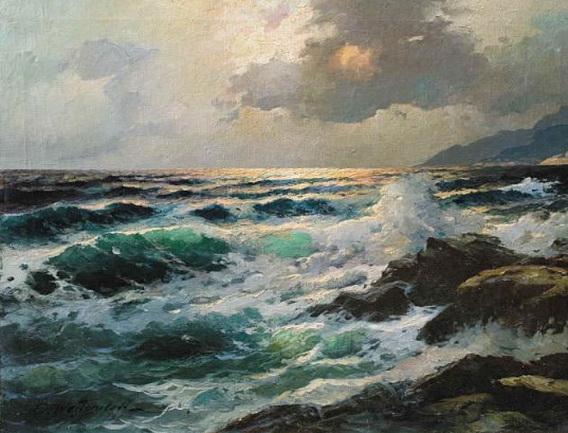 Вещилов Константин -  Заход солнца  над морем