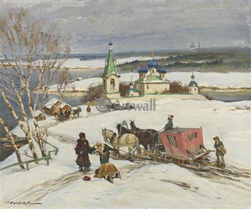 Вещилов Константин -  Деревня зимой