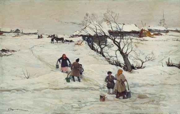 Вещилов Константин -  Зимний  пейзаж