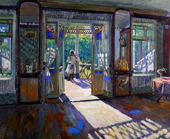 Виноградов Сергей Арсеньевич (Россия, 1869-1938) В доме 1913