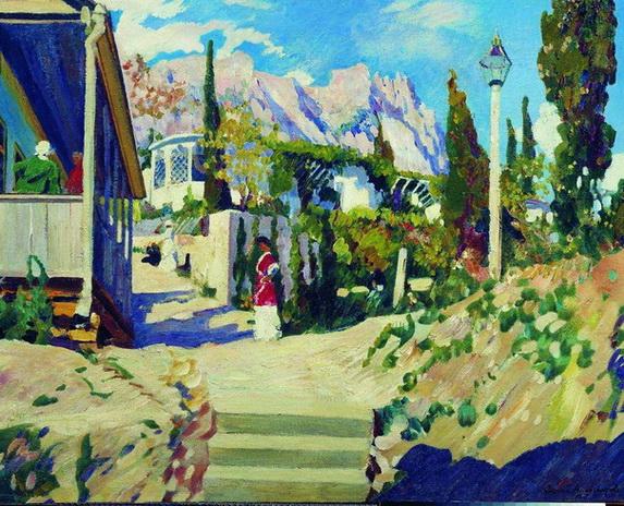 Виноградов Сергей Крымский пейзаж. 1915