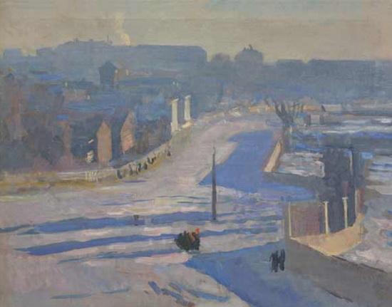 Герасимов - Зима. Московский пейзаж.