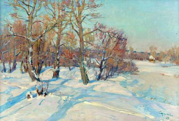 Глущенко Николай - Декабрьское солнце. 1955.