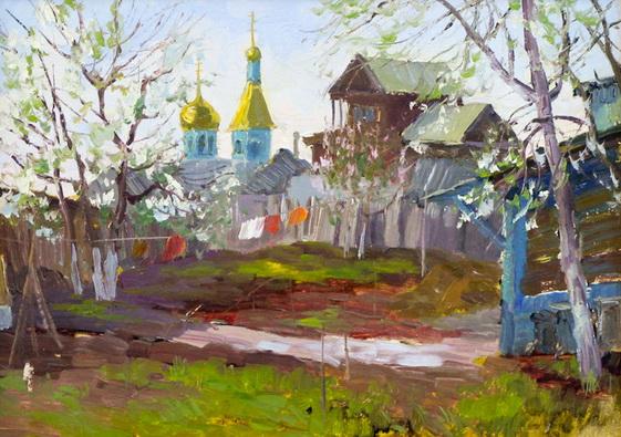 Ахметшин - Пейзаж в старой Уфе