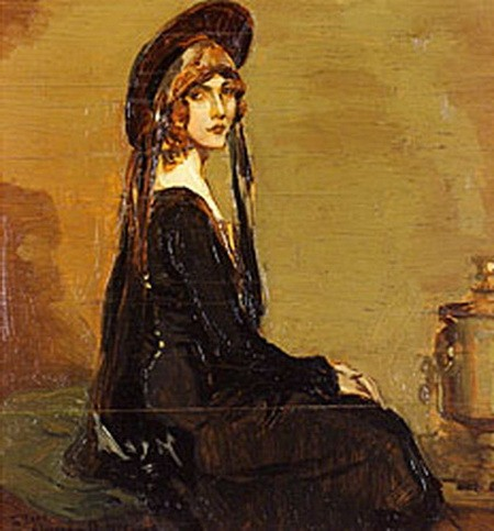 Alexander O. Levy - Portrait of a Woman in Profile