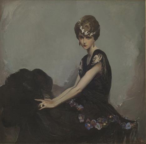 Alexander O. Levy - Portrait of Mrs. Donald Wier