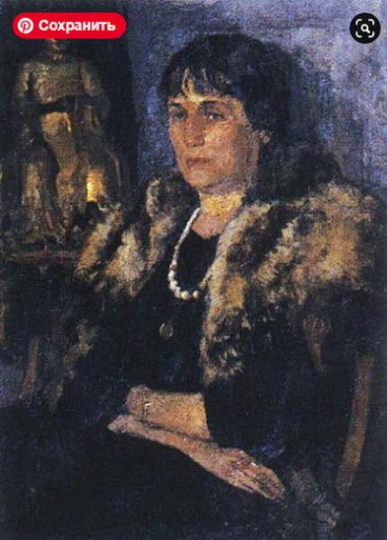 Белкин Вениамин - портрет Ахматовой