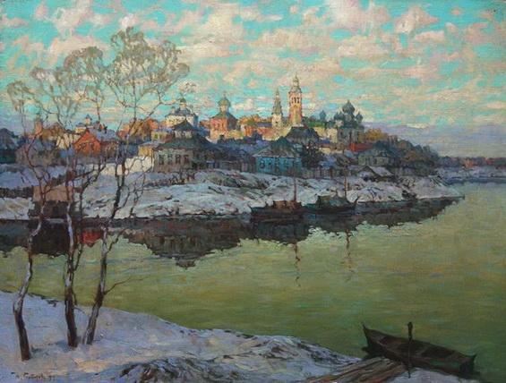 Konstantin Gorbatov Ранняя весна. Город на реке