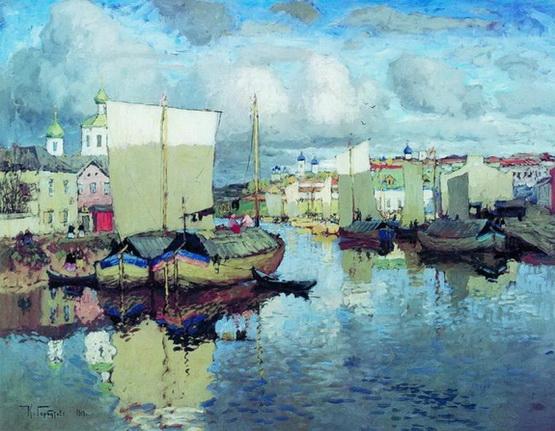 Konstantin Gorbatov Псков Жизнь на реке