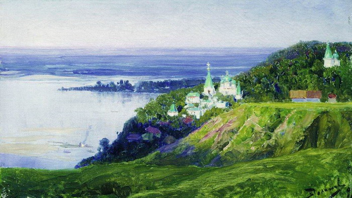 Vasiliy Polenov - Монастырь над рекой