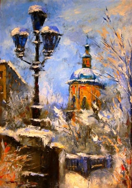 город зимой полунин