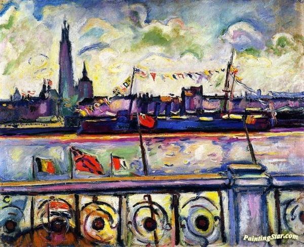 Emile-Othon Friesz -  Bedecked Cruiser at Antwerp