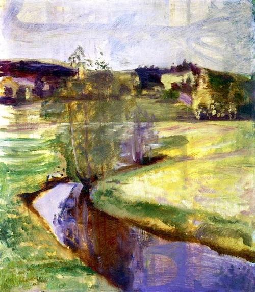 Edvard Munch  -  Norwegian Spring Landscape