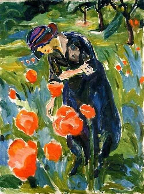 Edvard Munch  - Woman With Poppies