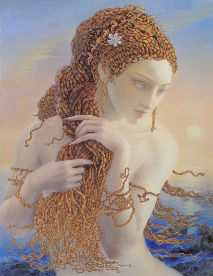 Kinuko Y Craf 5 Stars [phistars.com] hd wallpaper art paintings medusa myth cool