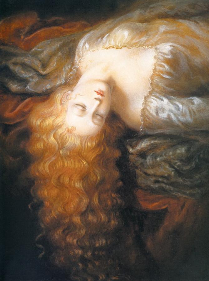 Kinuko Y Craf 5 Stars [phistars.com] hd wallpaper art paintings fantasy sleeping cutie