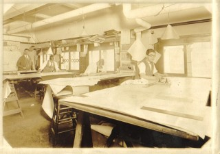 Grandpa Sjoberg at his desk @Hunt &Chambers
