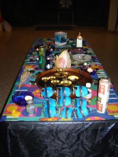 Water/west altar
