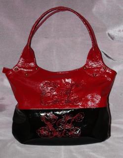 кожаная сумка с вышивкой