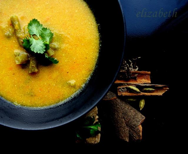 Острый апельсиново-кокосовый суп