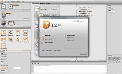 Концепт дизайна интерфейса для нового инструментARия EligoVision Toolbox beta