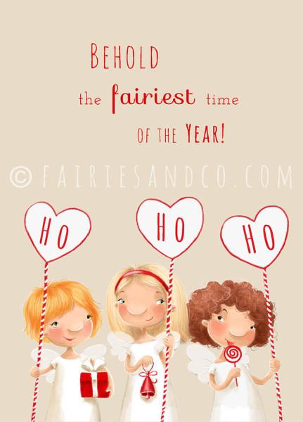 X-mas Fairy 2 postcard front copy