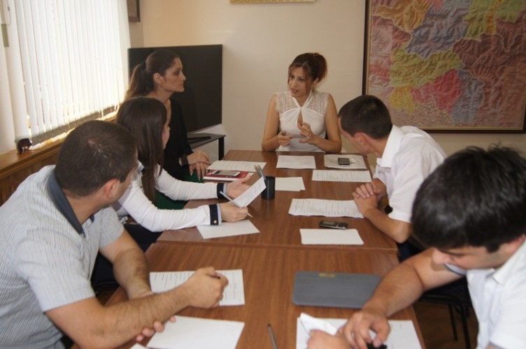 Заседание комитета молодежного парламента. 2013 год.