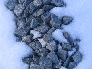 Frozen rocks