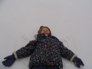snow angels don't photograph well