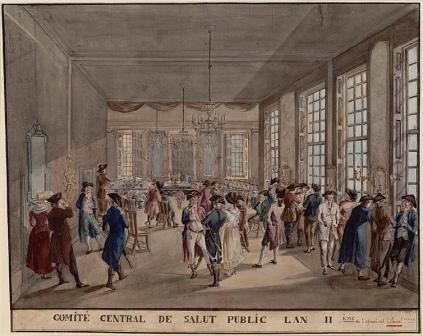Комитет Общественного Спасения, II год республики. Национальная библиотека Франции, Париж.