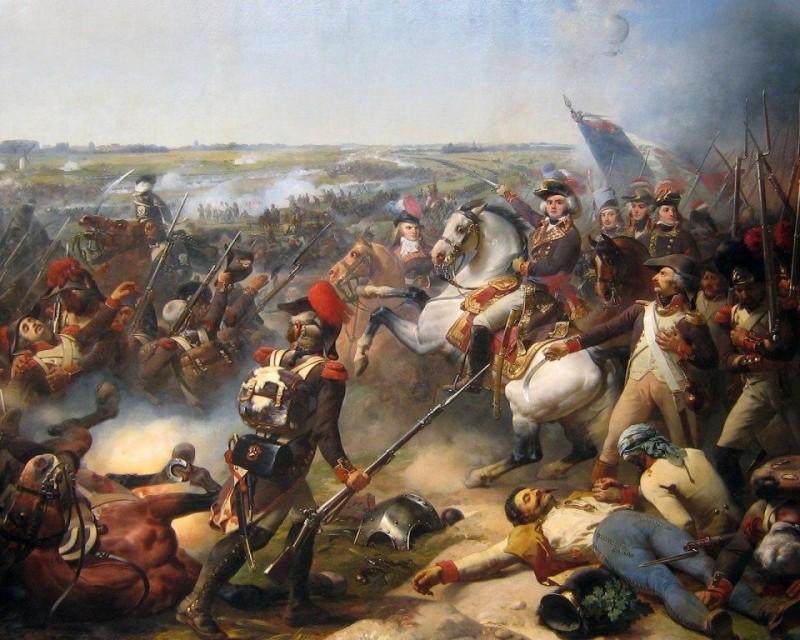 "Ж.-Б. Мозес ""Битва при Флерюсе, 1794"", 1837 г."