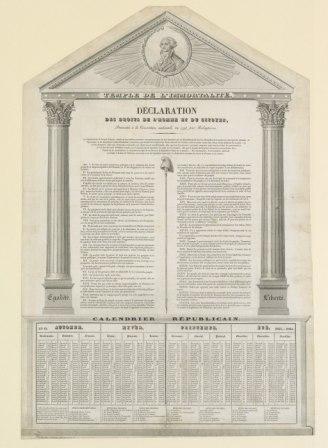 Déclaration des droits de l'homme et du citoyen présentée à la convention nationale en 1793, par Robespierre