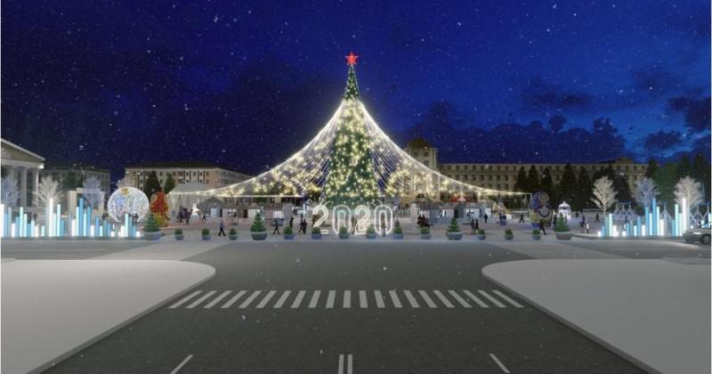 Елка на площади города Белгорода