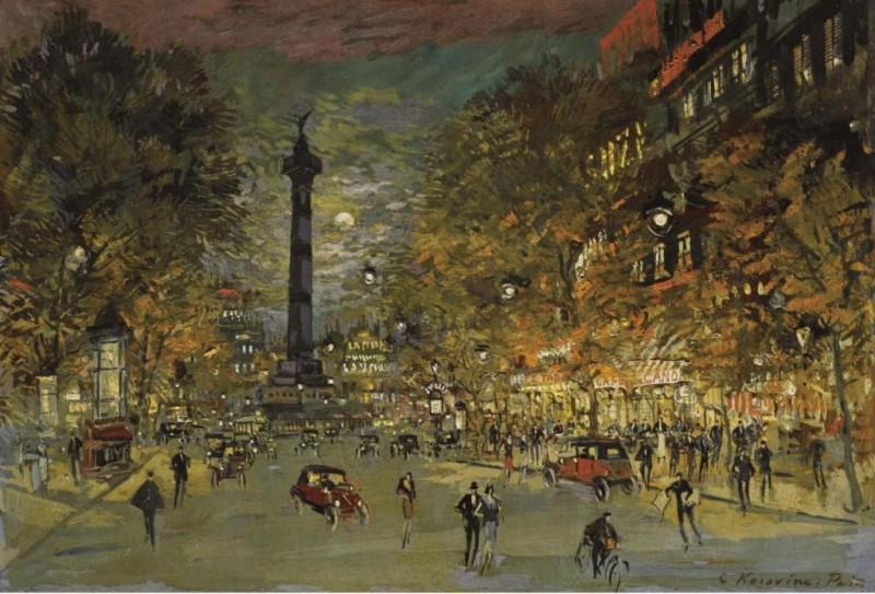 Париж. Площадь Бастилии. 1906. Доска, масло.