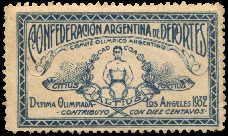 Виньетка изданная Аргентинской Спортивной Конфедерацией