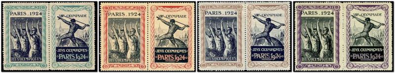 Французские виньетки к Олимпиаде 1924 года