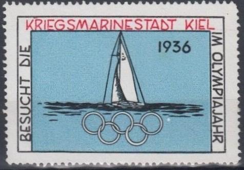 Виньетка, выпущенная в Германии специально для олимпийской парусной регаты, которая проходила в Киле. Она была предназначена для предолимпийской рекламы и 50 000 штук были напечатаны от имени портовых, транспортных и выставочных офисов в Киле. Виньетка была распространена среди всех почтовых отделений в Киле для бесплатной выдачи с 7 июля 1936 года. Эта виньетка не была доступна через почтовые отделения в других частях Германии. Они обычно находились на обратной стороне конверта и использовалась в качестве довеска печати.