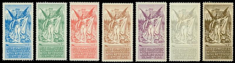 Греческие олимпийские виньетки 1906 года