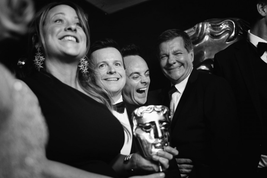 Amelia Brown, with Declan Donnelly, Ant McPartlin, and Nigel Hall.jpg