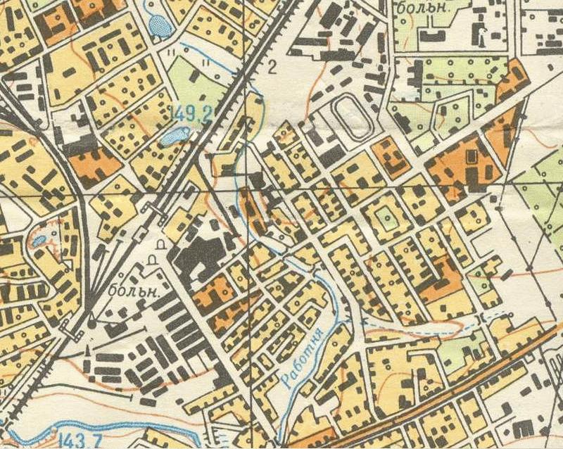 1964 Карта Старые Мытищи 1960-е фрагмент.png
