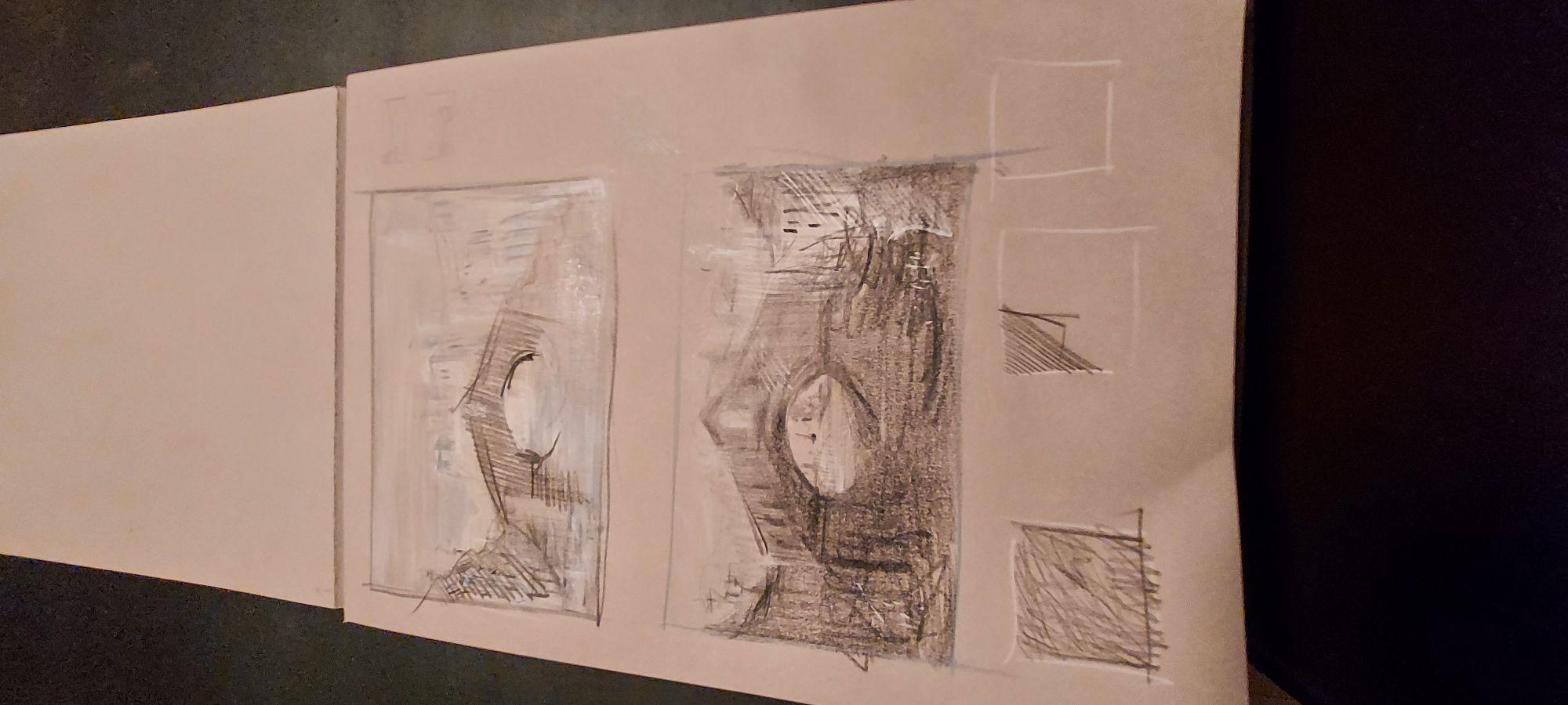 Акварельные карандаши + пастель масляная + уголь .Бумага.