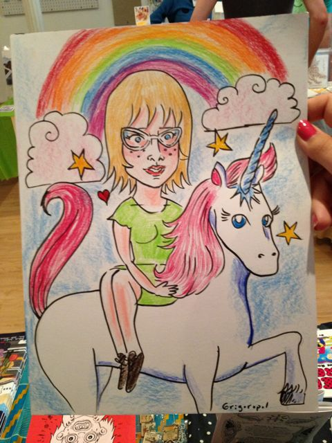 Ellen Lindner unicorn portrait by Dre Grigoropol