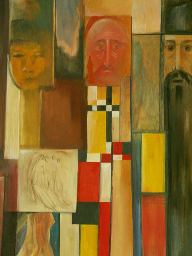 Three Religions of Russia Acrylic Canvas 24X48 2007