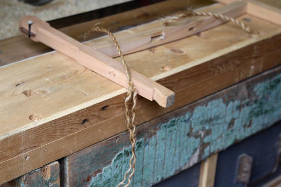 Изготовление тетивы из кокосовой верёвки