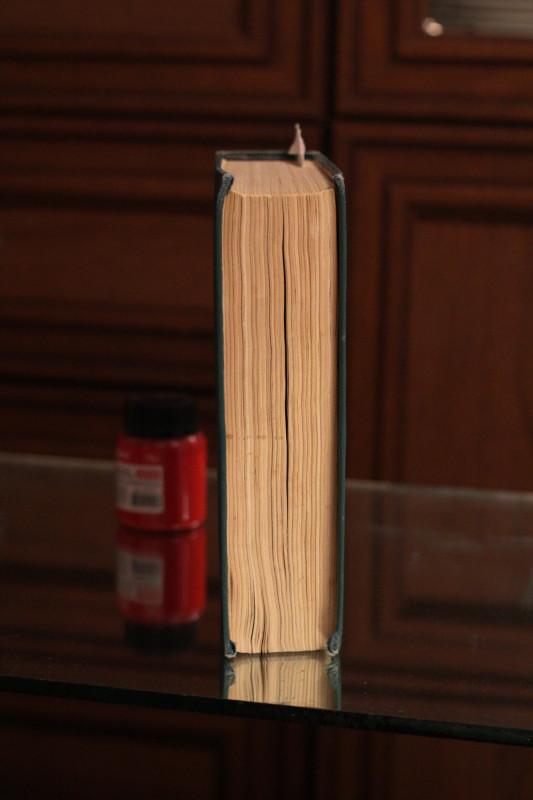 Книжный блок осел из-за недостаточного округления корешка